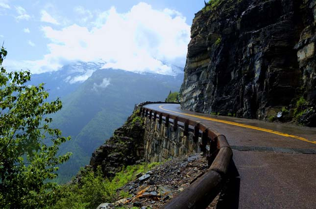 Going-to-the-Sun-Road, Glacier Nemzeti Park, Montana, USA