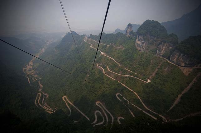 Tianmen hegyi út, Hunan, Kína