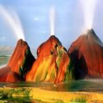 A színes Fly gejzír