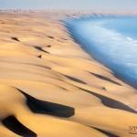 A Namíb sivatag találkozása a tengerrel