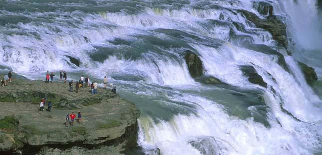 Gullfoss vízesés, Izland