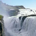 A gyönyörű Gullfoss-vízesés Izandon