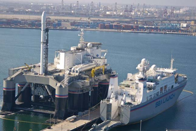Rakétakilövő állomás a tengeren