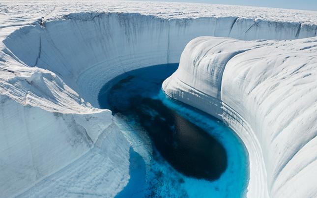 Jég kanyon - Grönland
