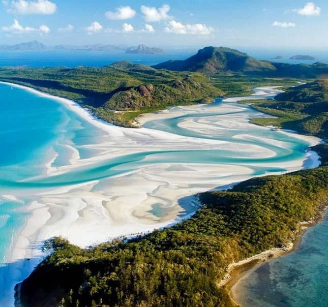 Whitehaven Beach, Airlie Beach, Ausztrália