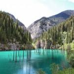 A gyönyörű Kaindy-tó