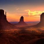 Monument Valley egyedülálló sziklaformációi