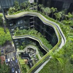 """Szingapúr """"zöld felhőkarcolója"""", a Park Royal Tower"""