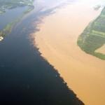 Különös jelenség az Amazonas és a Rio Negro találkozásánál