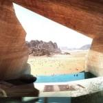 Sziklába vájt luxushotel a világ legszebb sivatagos területén