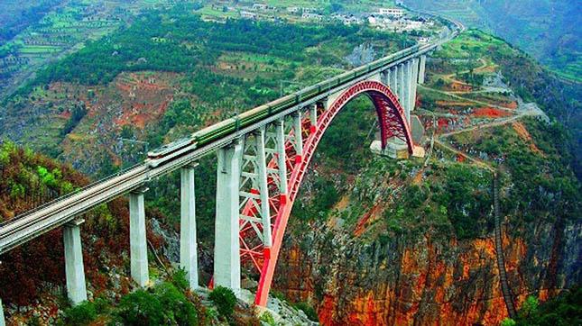 Beipanjiang River 2009 vasúti híd, Kína