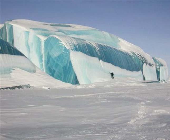 Fagyott hullámok, Antarktisz