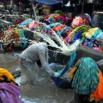 Nyilvános mosoda Indiában