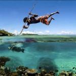 Új-kaledóniai bennszülöttek különleges halászati technikája