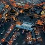 Repülőterek a magasból fényképezve