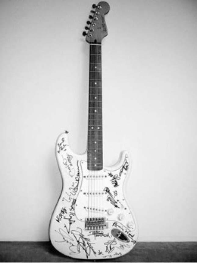 A világ legdrágább gitárja