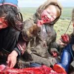 Szibériában nyers húson és véren élő családok