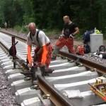 A vasúti sínek hegesztése [Videó]
