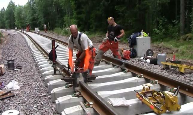 A vasúti sínek heggesztése