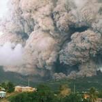 Soufriére Hills-vulkán kitörése Montserrat szigetén
