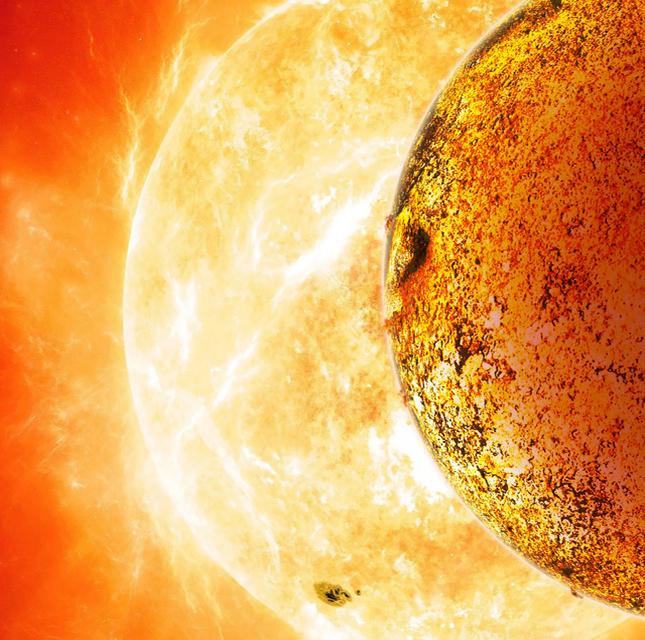 Pokoli lávatenger a Föld-szerű exobolygó