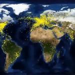 A világ összes repülőjárata egyetlen videón