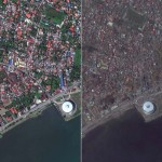 Műholdfotókon a Haiyan tájfun pusztítása