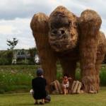 Rizsszalmából készült szobrok