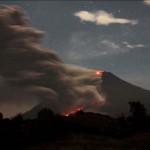 A Sinabung vulkán újabb kitörése
