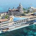 Készül a világ legdrágább, 89 milliárd értékű Monacot formázó hajója