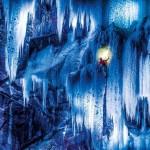 Varázslatos képek a befagyott Norvég vízesések megmászásáról