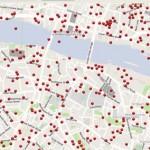 London bombázásának helyszínei