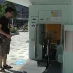 Föld alatti biciklitároló rendszer Japánban