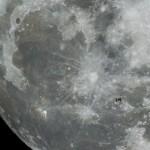 A Nemzetközi Űrállomás elhaladása a Hold előtt