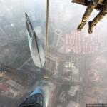 Vérfagyasztó felvétel a 650 méter magas Shanghai Tower megmászásáról