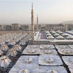 Medina óriási ernyői az 50 fokos hőség ellen