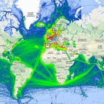 Valós idejű interaktív térkép a globális tengeri hajó- és teherforgalomról