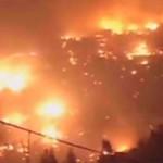 Drónnal filmezték le a Chilében tomboló tűzvész pusztítását