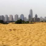 Mesterséges tó helyett sivataggá változott egy kínai város környéke