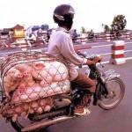 Motoros szállítás Vietnamban