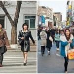 Éles a különbségek Észak- és Dél-Korea között