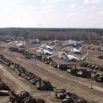A csernobili katonai roncstemető