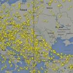 Élő radarkép A Kelet-Ukrajnát érintő légtérzárról