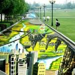 A világ leghosszabb és legnagyobb 3 dimenziós utcai festménye