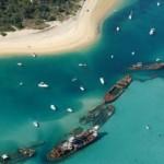 Tangalooma szándékosan elsüllyesztett hajóroncsai