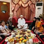Muszlimok étkezése a ramadán idején