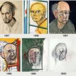 Egy Alzheimer-kórban szenvedő művész önarcképei