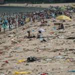 Óriási mennyiségű szemét a kínai Sencsen strandján