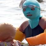 Elképesztő népszerűségnek örvend az arcot teljesen elfedő napvédő maszk