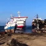 Photo: Extrém kikötés egy hatalmas hajóval